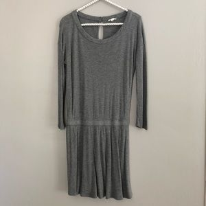 Soft Joie Gray Blouson Dress Long Sleeve Medium
